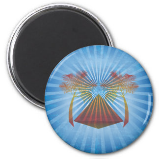 Blue Oasis 2 Inch Round Magnet