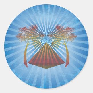 Blue Oasis Classic Round Sticker