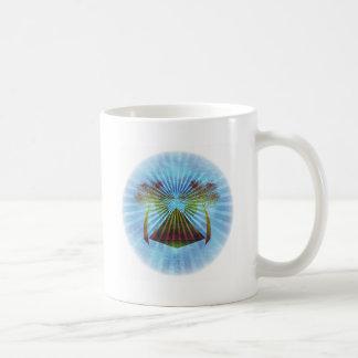 Blue Oasis Scene (Circle) Classic White Coffee Mug