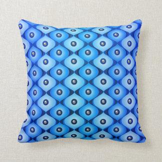 Blue Oblong Throw Pillow
