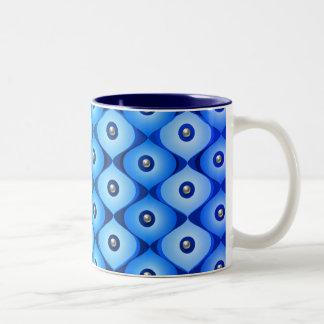 Blue Oblong Two-Tone Coffee Mug