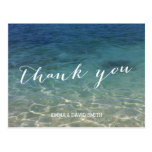 Blue Ocean Beach Destination Thank You Postcard