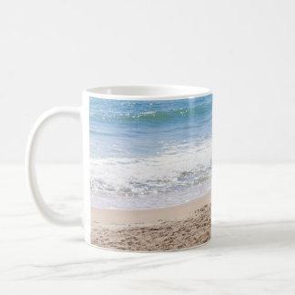 Blue Ocean Beach Waves Photograph Classic White Coffee Mug