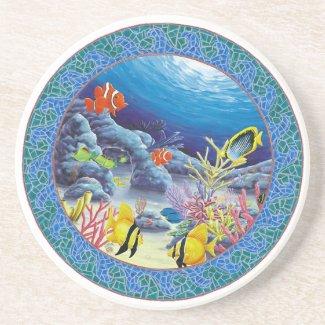 Blue Ocean Beverage Coasters