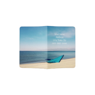 Blue Ocean, Blue Boat Personalized Passport Cover