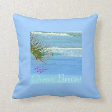 Beach Themed Blue Ocean Breeze Pillow