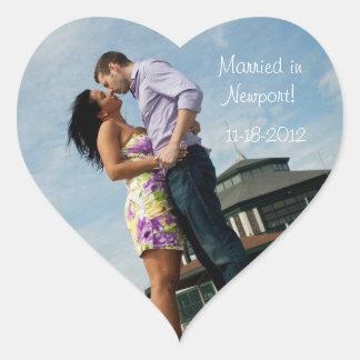 Blue Ocean | Couples Wedding Heart Stickers