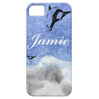 blue OCEAN DOLPHIN iphone covers iPhone 5 Cover