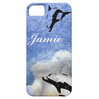 blue OCEAN DOLPHIN iphone covers iPhone 5 Cases