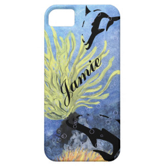 blue OCEAN DOLPHIN iphone covers iPhone 5 Case