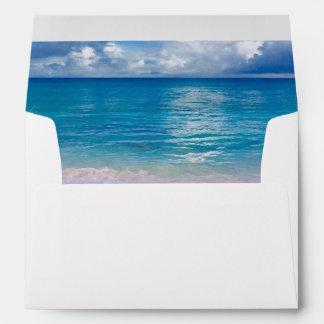 "Blue Ocean | Envelope 7 ¼"" wide x 5 ¼"" high"