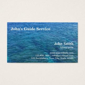 Blue Ocean Fishing Guide Tour Service Business Card