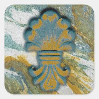 Blue Ocean Medallion Square Sticker