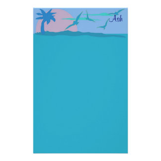 Blue Ocean Paradise Personalized Stationery