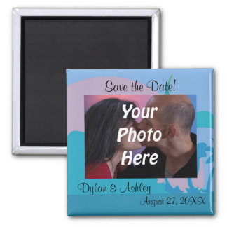 Blue Ocean Paradise Theme Photo Save the Date! Magnet