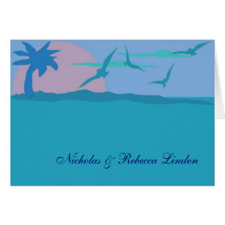 Blue Ocean Paradise Theme Thank You Card