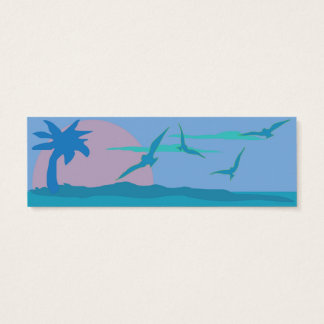 Blue Ocean Paradise Theme Website Enclosure Mini Business Card