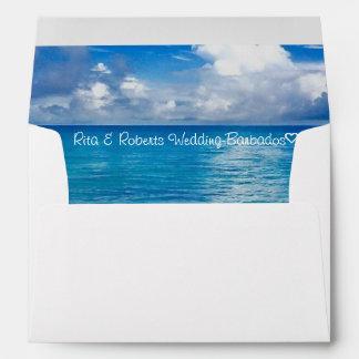 "Blue Ocean | Personalized Envelope  7 ¼"" x 5 ¼"""