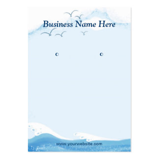 Blue Ocean Seagull - Earring Display Cards Large Business Cards (Pack Of 100)