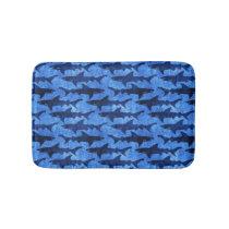 Blue Ocean Shark Attack Bathroom Mat