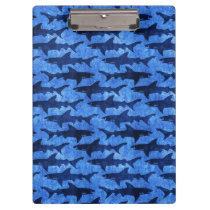 Blue Ocean Shark Attack Clipboard