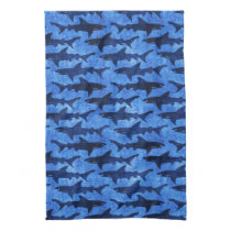 Blue Ocean Shark Attack Kitchen Towel