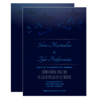 Blue Ocean Shark Wedding Invitation