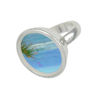 Blue Ocean Silver Round Ring