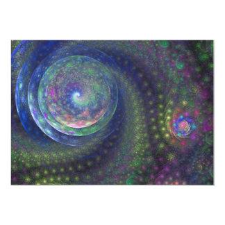 Blue Ocean Sky Fractal Art Card