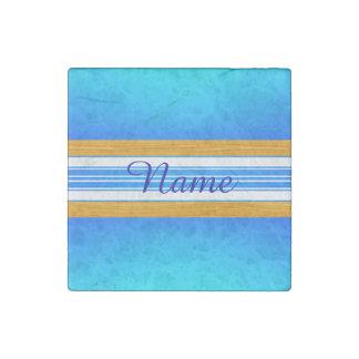 Blue Ocean Surfboard Stone Magnet