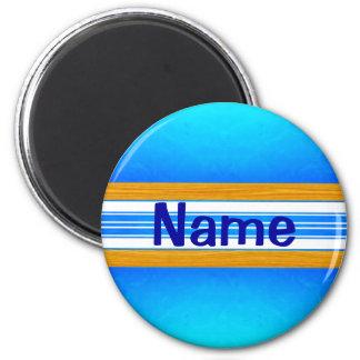 Blue Ocean Surfboard Magnet