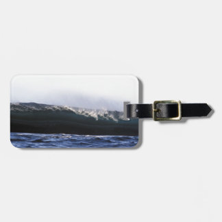 Blue ocean surfing wave New Zealand Luggage Tag