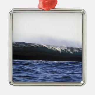 Blue ocean surfing wave New Zealand Metal Ornament