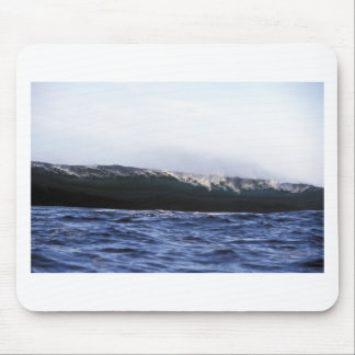 Blue ocean surfing wave New Zealand Mouse Pad