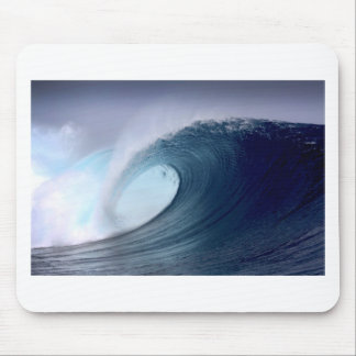 Blue ocean surfing wave tropical island mouse pad