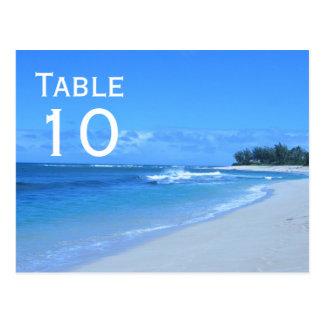 Blue Ocean Table Number Postcard