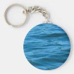 Blue Ocean Water Basic Round Button Keychain