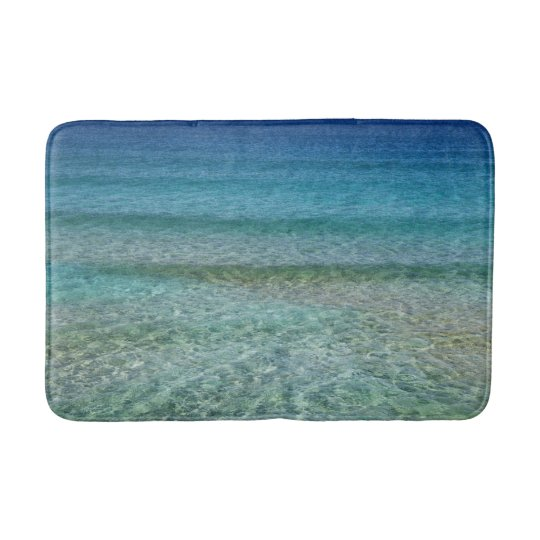 Turquoise Bath Rugs For Dry The Feet Simple Turquoise: Blue Ocean Water Bath Mat Rug