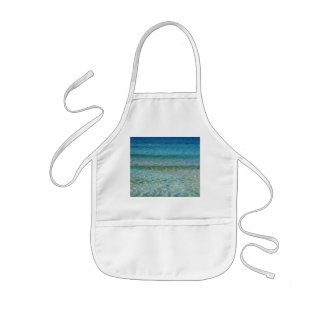 Blue Ocean Water Over White Sand Apron
