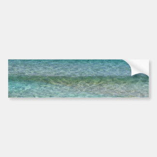 Blue Ocean Water Over White Sand Bumper Sticker