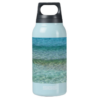 Blue Ocean Water Over White Sand Insulated Water Bottle