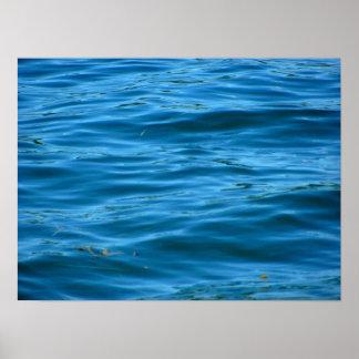Blue Ocean Water Print
