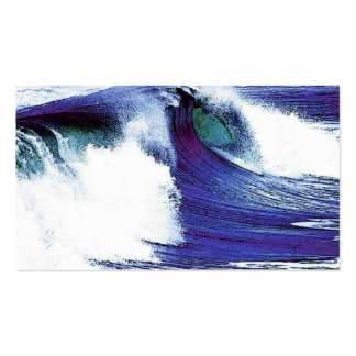 Blue Ocean Wave Business Card