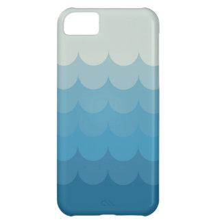 Blue ocean wave pattern iPhone 5C covers