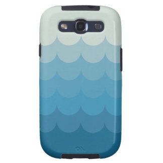Blue ocean wave pattern galaxy SIII cover