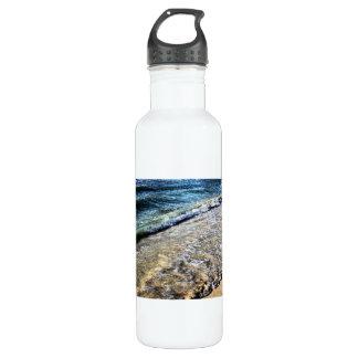 blue ocean wave 24oz water bottle