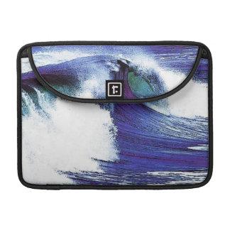 Blue Ocean Wave Sleeves For MacBooks