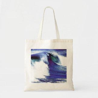 Blue Ocean Wave Tote Bag