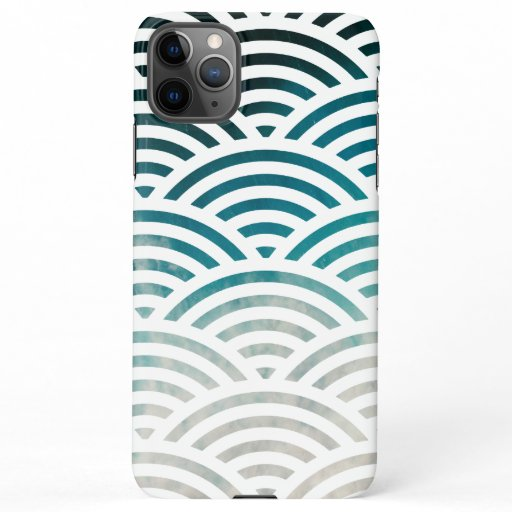 Blue Ocean Waves and Sand Pattern Design iPhone 11Pro Max Case