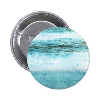 Blue Ocean Waves Beach Button